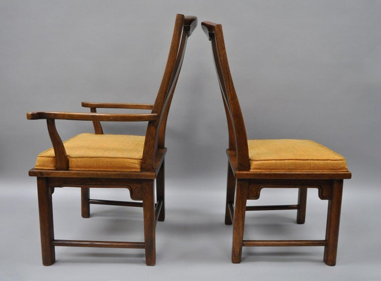 Mid-20th Century Set of Six Oriental James Mont Style Dining Chairs by Century Mid-Century Modern For Sale