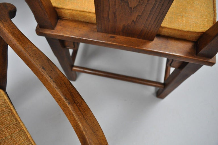 Set of Six Oriental James Mont Style Dining Chairs by Century Mid-Century Modern For Sale 1