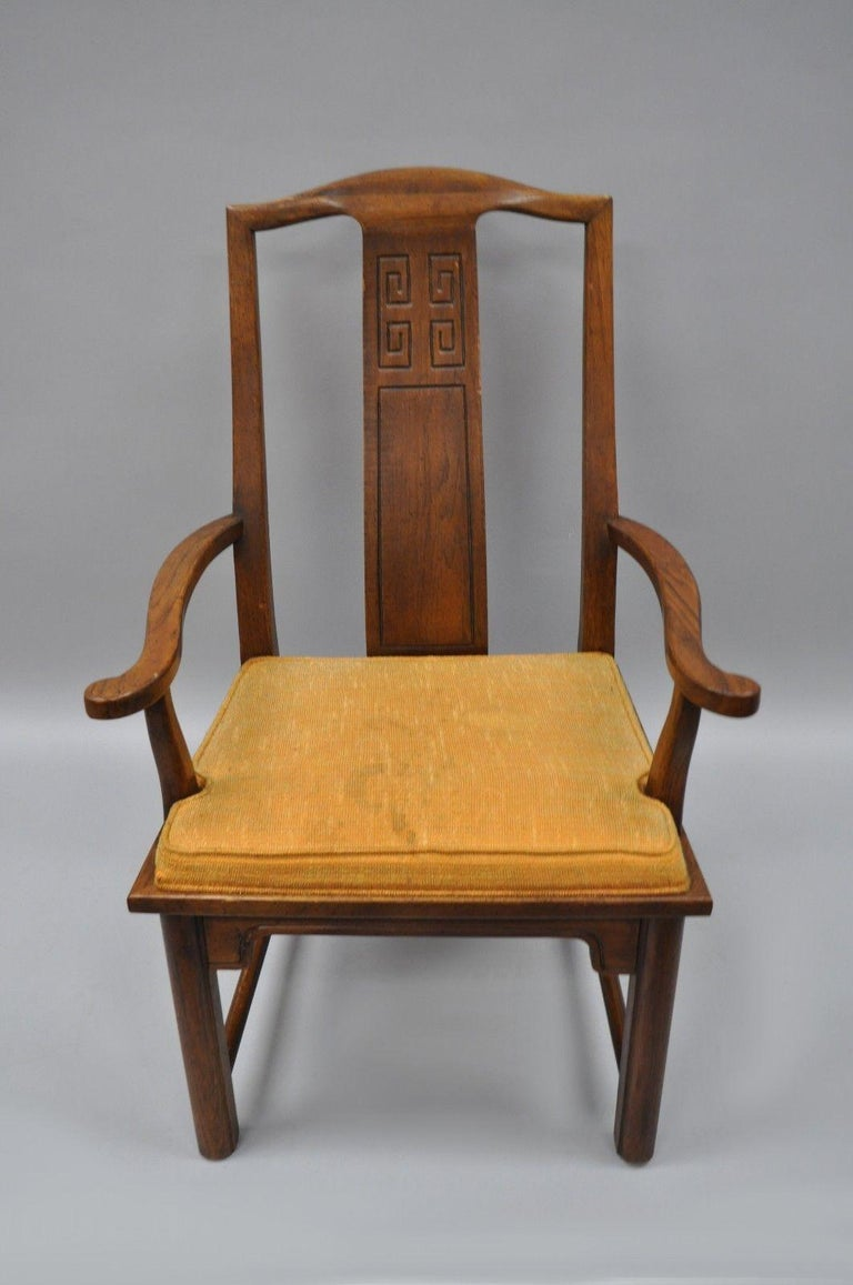 Set of Six Oriental James Mont Style Dining Chairs by Century Mid-Century Modern For Sale 2