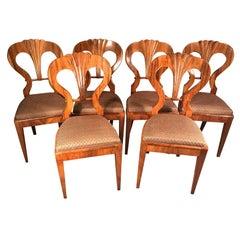 Set of Six Original Biedermeier Chairs, att. to Josef Danhauser, Vienna, 1820