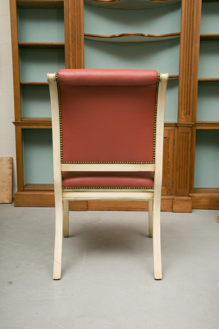 American Set of Six Painted Regency Style Dining Chairs For Sale