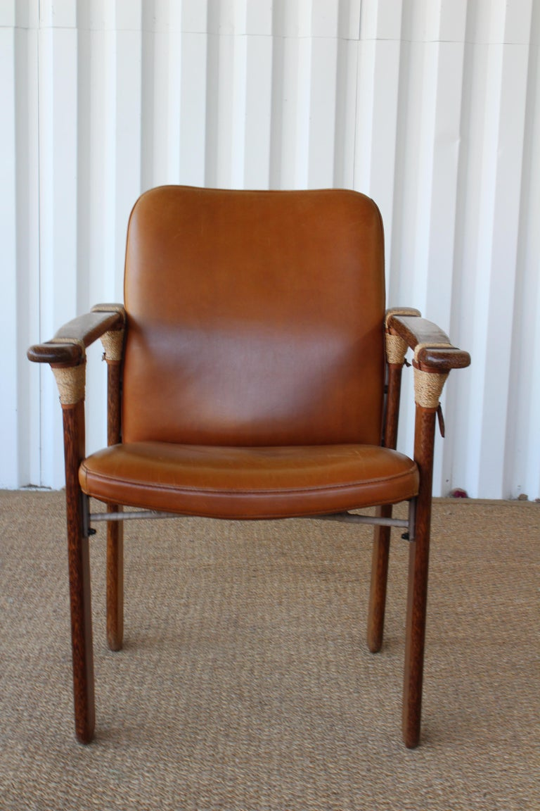 Set of Six Palm Wood Armchairs by Pacific Green, Australia ...