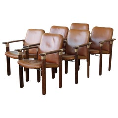 Set of Six Palm Wood Armchairs by Pacific Green, Australia, 1990s