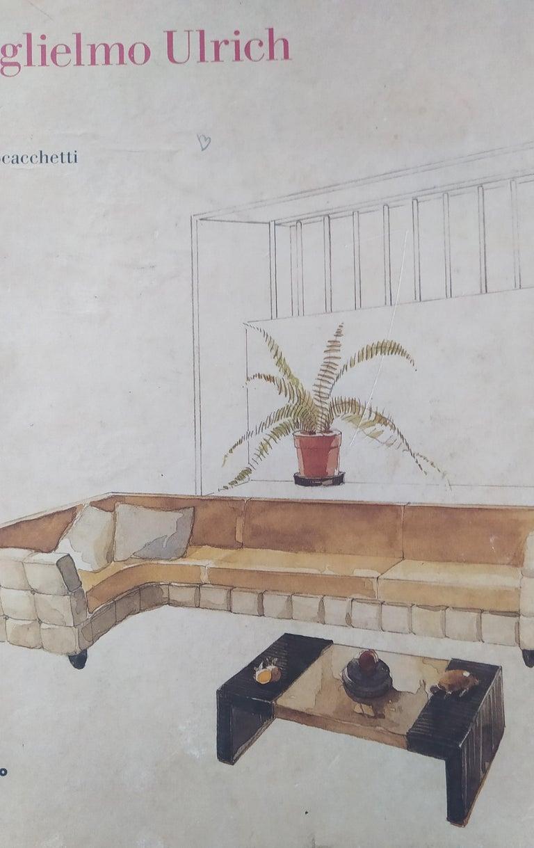 Set of Six Patterned Ebonized Walnut Chairs by Guglielmo Ulrich, Italy For Sale 6