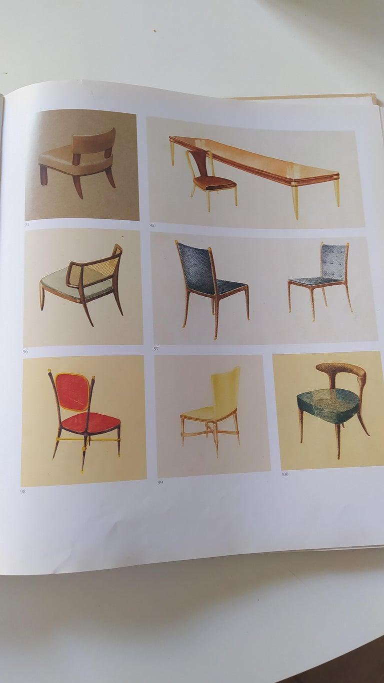 Set of Six Patterned Ebonized Walnut Chairs by Guglielmo Ulrich, Italy For Sale 7
