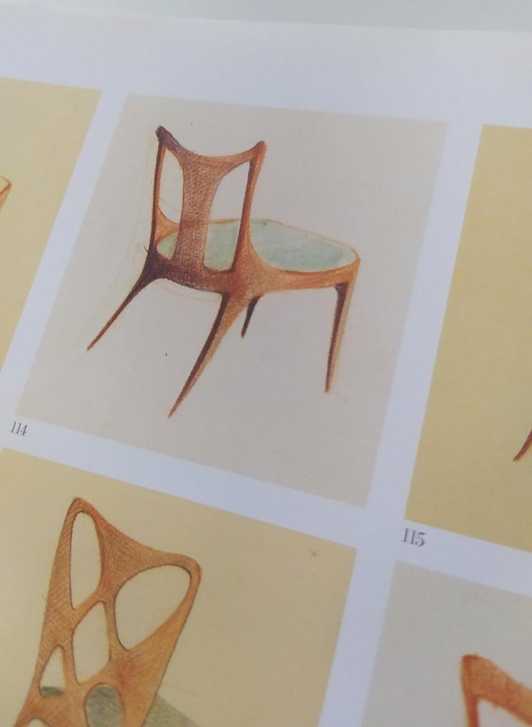 Set of Six Patterned Ebonized Walnut Chairs by Guglielmo Ulrich, Italy For Sale 9