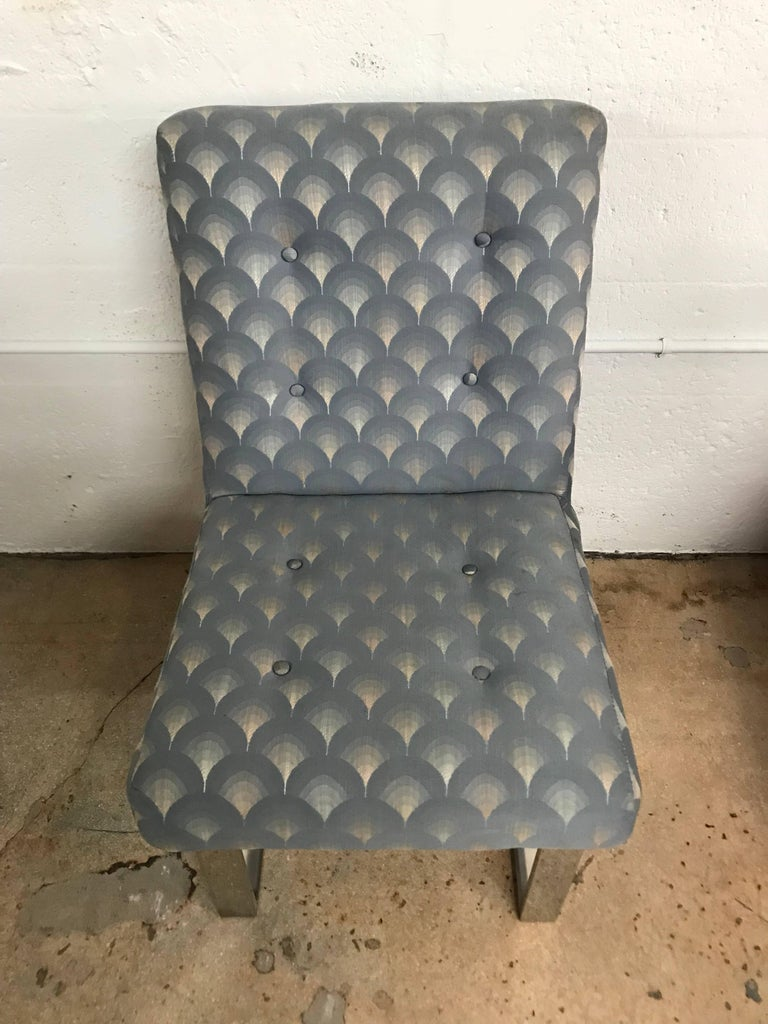 Set of Six Paul Evans Cantelivered Dining Chairs for Directional In Good Condition For Sale In Miami, FL