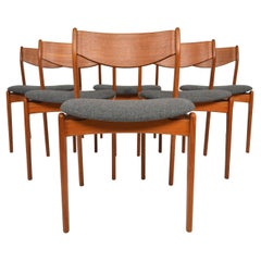 Set of Six P.E. Jorgensen Dining Chairs in Teak