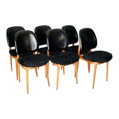Set of Six Pegase Chairs Edited by Baumann Designed by Pierre Guariche, France