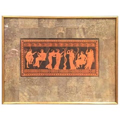 Set of Six Period Pompeian Colored Etchings