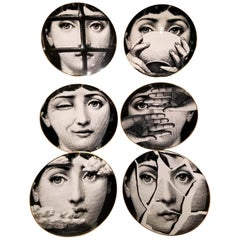 "Set of Six Piero Fornasetti for Rosenthal ""JULIA"" Plates"