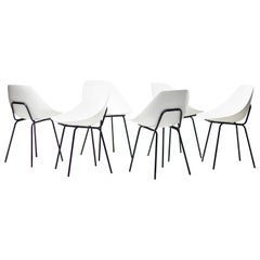Set of Six Pierre Guariche Coquillage Chairs