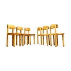 Set of Six Pine Wooden Chairs by Rainer Daumiller for Hirtshals Savvaerk, 1970s