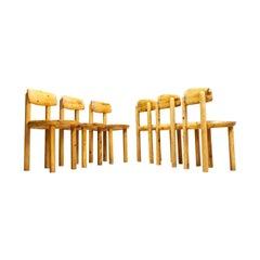 Set of Six Pine Wooden Chairs by Rainer Daumiller for Hirtshals Savvaerk, 1970s
