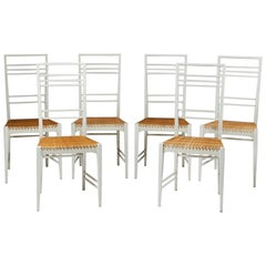 "Set of Six, ""Poem"" Chairs Designed by Erik Chambert, Sweden, 1953"