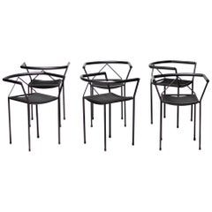 Set of Six Poltroncina Chairs by Maurizio Peregalli
