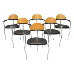 Set of Six Dining Chairs by Arrben Italy