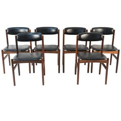Set of 'Six' Poul Volther for FDB Mobler Dining Chairs