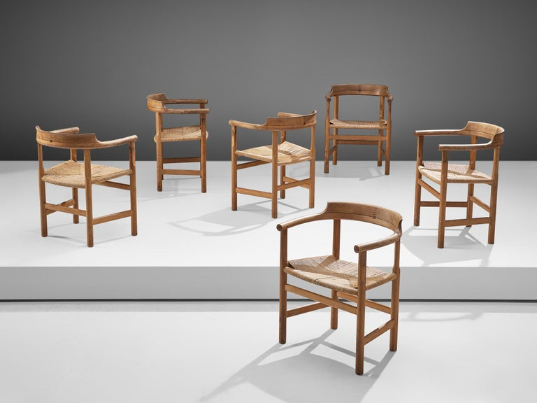 Set of Six 'PP62' Armchairs by Hans J. Wegner For Sale 4