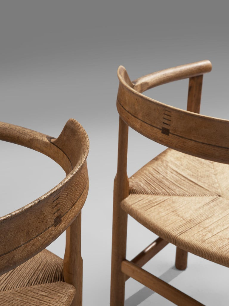 Set of Six 'PP62' Armchairs by Hans J. Wegner For Sale 1