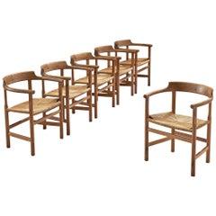 Set of Six 'PP62' Armchairs by Hans J. Wegner