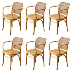 Set of Six 'Prague' Dining Chairs by Josef Frank & Josef Hoffmann, 1960s, Signed