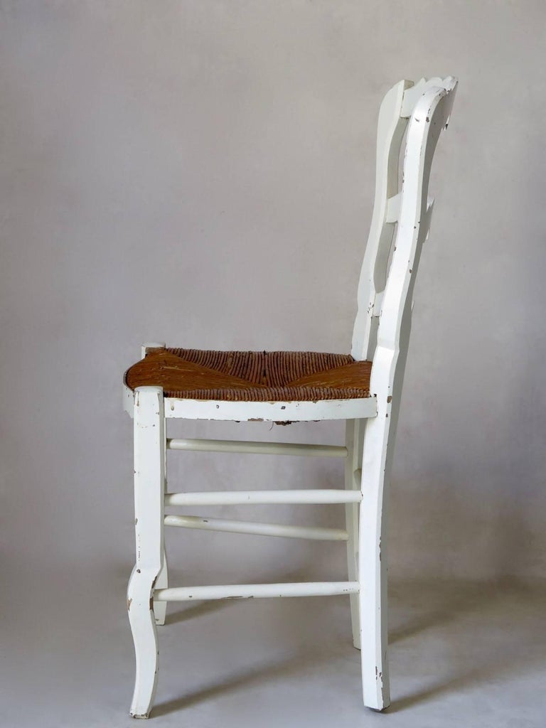Country Set of Six Provençal Dining Chairs, France, circa 1920s For Sale