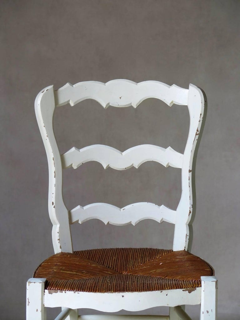 Painted Set of Six Provençal Dining Chairs, France, circa 1920s For Sale