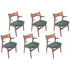 Set of Six Rare Eric Buch Model 310 Dining Chairs in Teak