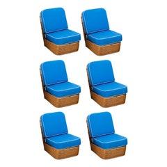 Set of Six Rattan Chairs