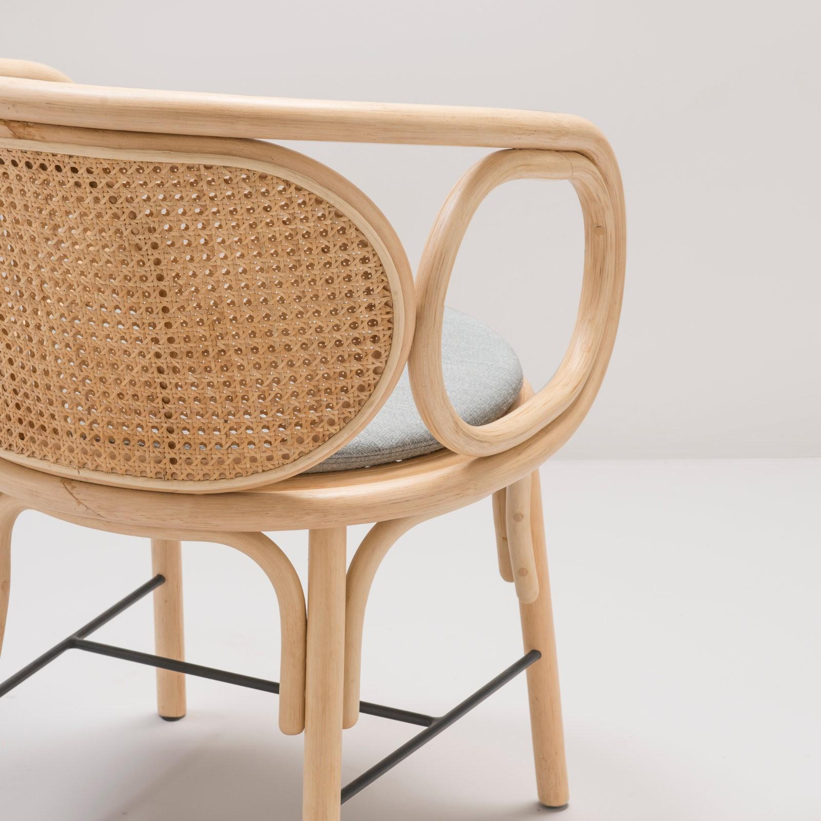 Modern Design Fauteuil.Set Of Six Rattan Dining Armchairs French Modern Design For Sale