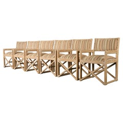 Set of Six Rattan Dining Chairs by Kreiss Collection, 1990s
