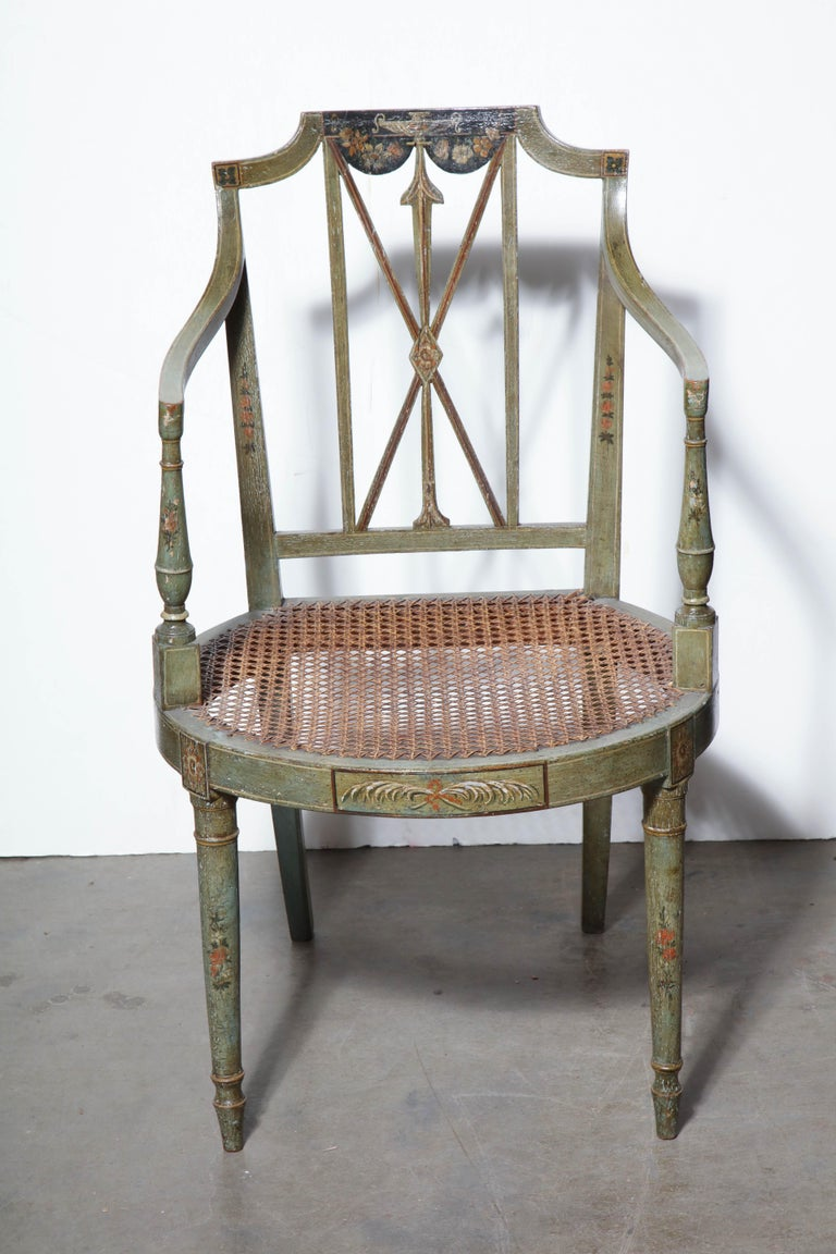 Set of Six Regency Armchairs For Sale 7
