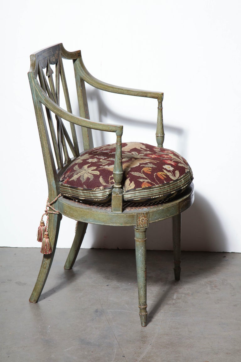 English Set of Six Regency Armchairs For Sale