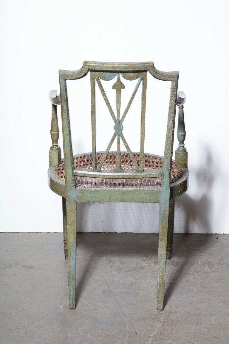 Wood Set of Six Regency Armchairs For Sale