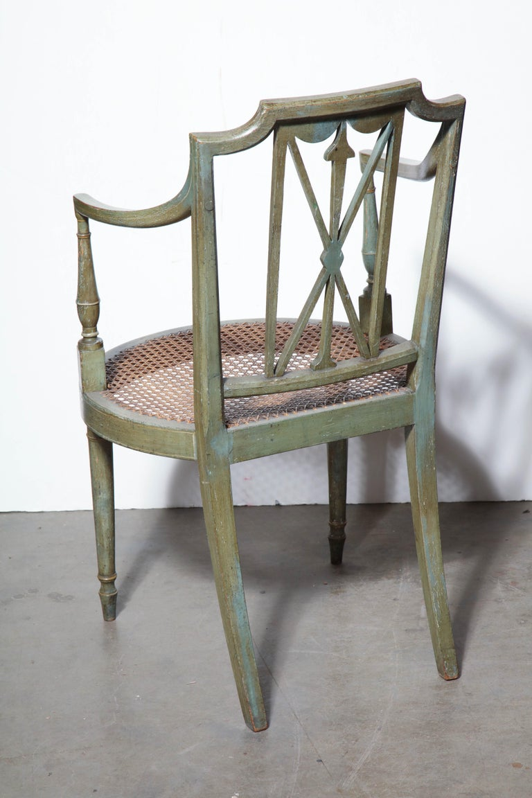 Set of Six Regency Armchairs For Sale 1
