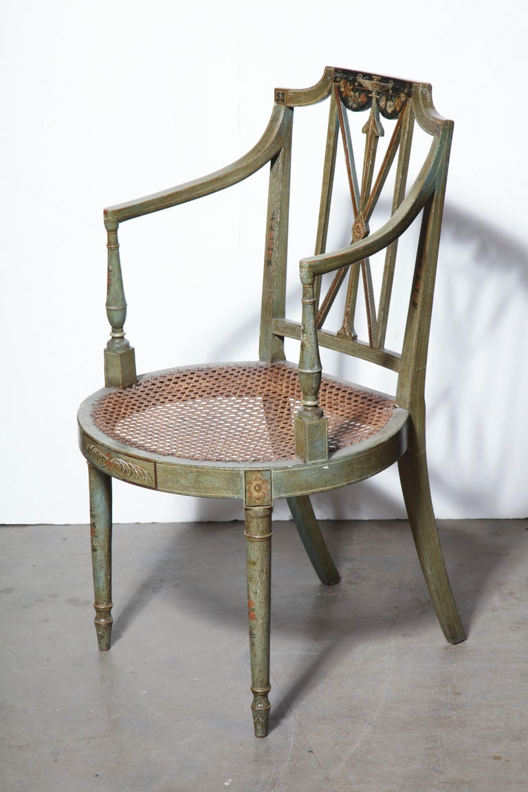 Set of Six Regency Armchairs For Sale 3