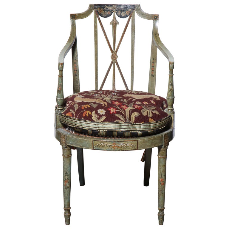 Set of Six Regency Armchairs For Sale