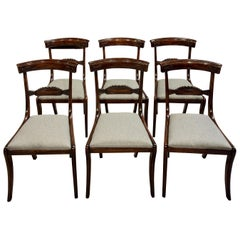 Set of Six Regency Beech Chairs with Original Rosewood Graining, circa 1830