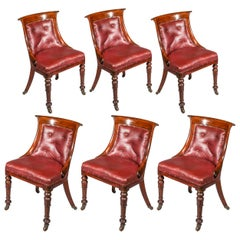 Set of Six Regency Dining Tub Chairs, circa 1820