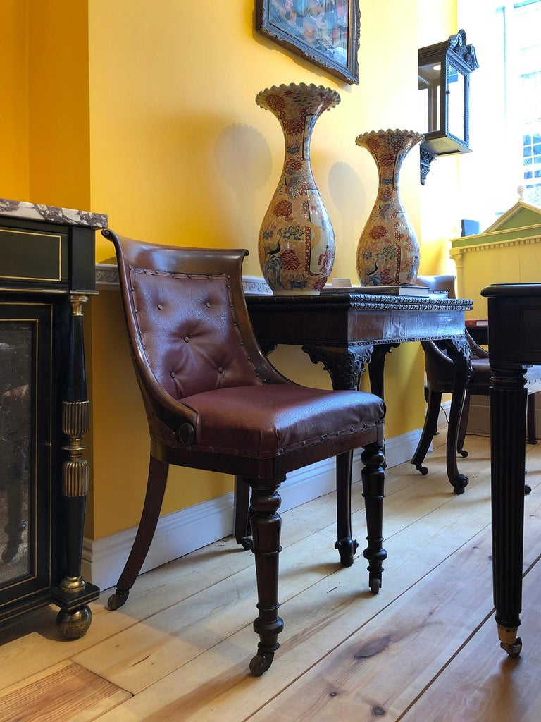 Set of Six Regency Dining Tub Chairs  For Sale 3