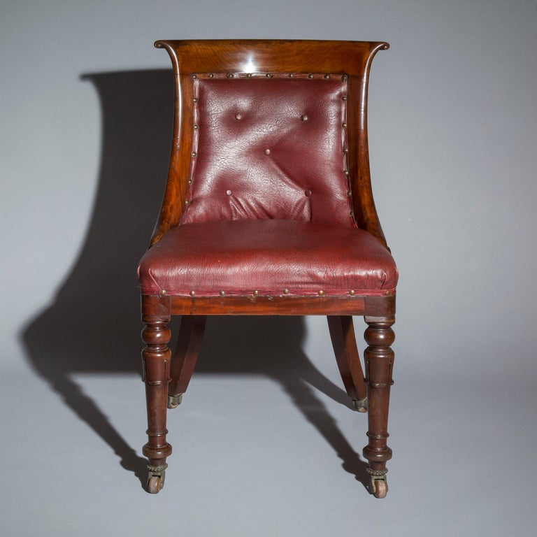 Set of Six Regency Dining Tub Chairs  In Good Condition For Sale In London, GB