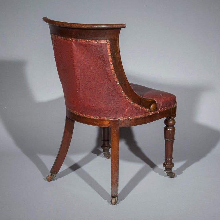 19th Century Set of Six Regency Dining Tub Chairs  For Sale
