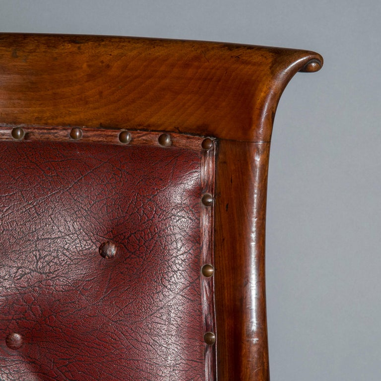 Set of Six Regency Dining Tub Chairs  For Sale 1