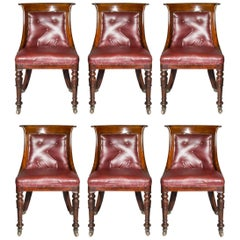 Set of Six Regency Dining Tub Chairs