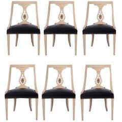 Set of Six Renzo Rutili Dining Chairs
