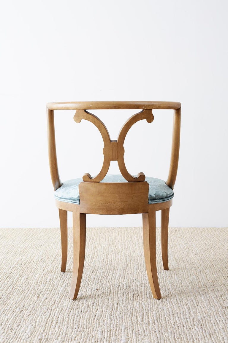 Set of Six Renzo Rutili Neoclassical Dining Chairs For Sale 7