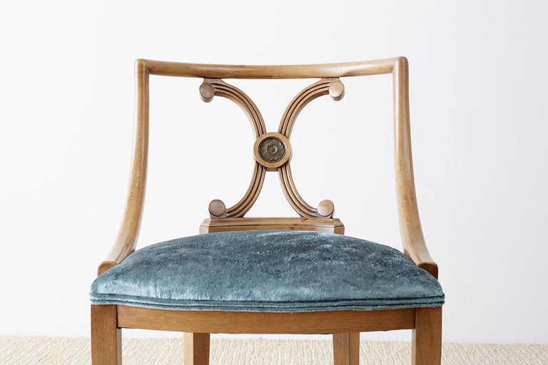 Set of Six Renzo Rutili Neoclassical Dining Chairs For Sale 10