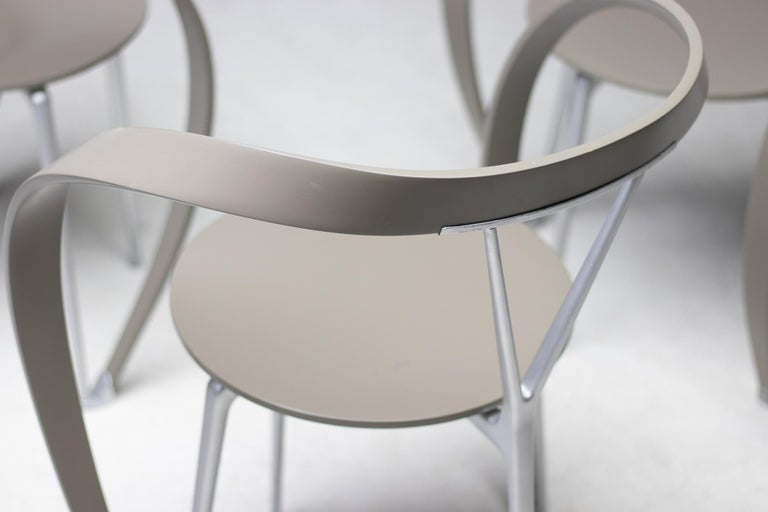 Mid-Century Modern Set of Six Revers Chairs by Andrea Branzi for Cassina