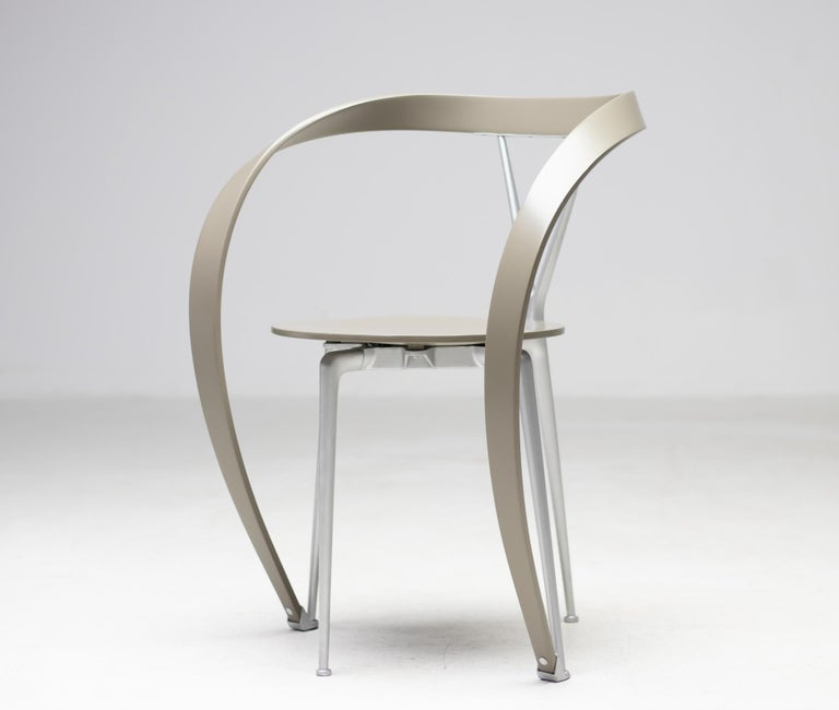 Italian Set of Six Revers Chairs by Andrea Branzi for Cassina